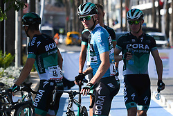 October 12, 2018 - Selcuk, Turkey - Sam Bennett (Center) of Ireland and Bora - Hansgrohe Team ahead of the start of the fourth stage - the Sportoto Stage 205.5km Marmaris - Selcuk, of the 54th Presidential Cycling Tour of Turkey 2018. .On Friday, October 12, 2018, in Selcuk, Turkey. (Credit Image: © Artur Widak/NurPhoto via ZUMA Press)