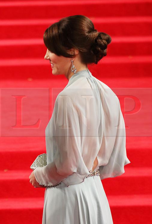 Kate Duchess of Cambridge, Bond: Spectre - World Premiere & Royal Film Performance, Royal Albert Hall, London UK, 26 October 2015, Photo by Richard Goldschmidt