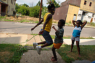 Jump roping in Mckeesport, Pennsylvania.