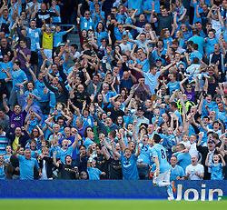22.09.2013, Etihad Stadion, Manchester, ENG, Premier League, Manchester City vs Manchester United, 5. Runde, im Bild Manchester City's Samir Nasri celebrates scoring the fourth goal against Manchester United during the English Premier League 5th round match between Manchester City and Manchester United at the Etihad Stadium, Manchester, Great Britain on 2013/09/22. EXPA Pictures © 2013, PhotoCredit: EXPA/ Propagandaphoto/ David Rawcliffe<br /> <br /> ***** ATTENTION - OUT OF ENG, GBR, UK *****
