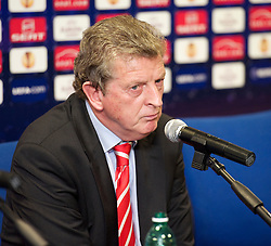 NAPELS, ITALY - Wednesday, October 20, 2010: Liverpool's manager Roy Hodgson during a press conference ahead of the UEFA Europa League Group K match against SSC Napoli at the Stadio San Paolo. (Pic by: David Rawcliffe/Propaganda)