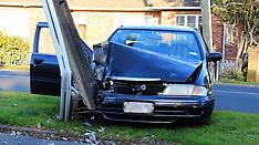 Auckland-Car v Pole, Marple Street, Avondale