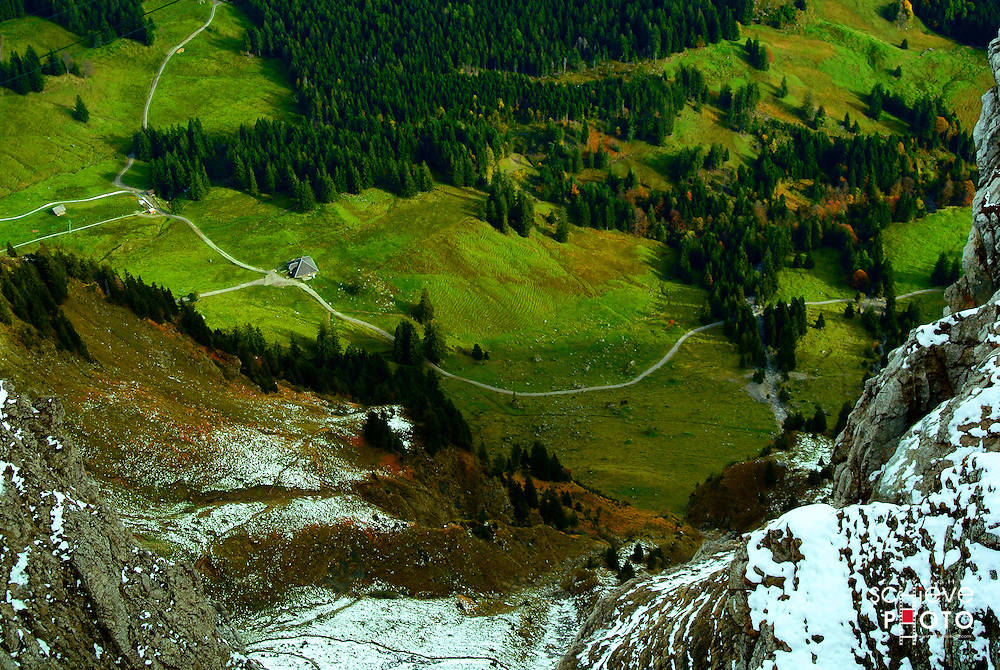The valley below Mount Pilatus.