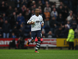 Jermaine Beckford of Preston North End after scoring his sides first goal - Mandatory by-line: Jack Phillips/JMP - 29/10/2016 - FOOTBALL - Deepdale - Preston, England - Preston North End v Newcastle United - EFL Championship