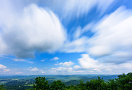 Long exposure landscape at Lookout Tower on Droop Mountain Battlefield State Park in West Virginia