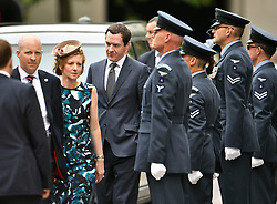 © Licensed to London News Pictures. 10/06/2016. London, UK. Chancellor Geoge Osborne and his wife frances Osborn  arrive at St Paul's Cathedral for a service of thanksgiving to mark the 90th birthday of Queen Elizabeth II. Photo credit: Ben Cawthra/LNP
