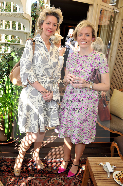 Left to right, ANNA ROBERTS and JEMIMA McDONNELL at a lunch in aid of the charity Kids Company held at Mark's Club, 46 Charles Street, London on 3rd October 2011.