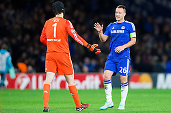 Petr Čech of Chelsea and John Terry of Chelsea after the football match between Chelsea FC and NK Maribor, SLO in Group G of Group Stage of UEFA Champions League 2014/15, on October 21, 2014 in Stamford Bridge Stadium, London, Great Britain. Photo by Vid Ponikvar / Sportida.com