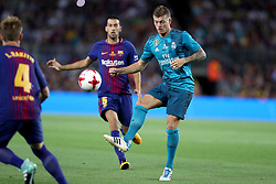 August 13, 2017 - Barcelona, Spain - Toni Kroos of Real Madrid during the Spanish Super Cup football match between FC Barcelona and Real Madrid on August 13, 2017 at Camp Nou stadium in Barcelona, Spain. (Credit Image: © Manuel Blondeau via ZUMA Wire)