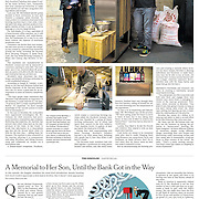 "Tearsheet of ""Brewbot"" published in The New York Times"