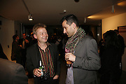 Simon Patterson and Ian Hunt, Art Monthly 30th birthday party. Hayward Gallery. 26 October 2006. -DO NOT ARCHIVE-© Copyright Photograph by Dafydd Jones 66 Stockwell Park Rd. London SW9 0DA Tel 020 7733 0108 www.dafjones.com