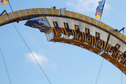 Amusement park ride at the Indiana state fair. IN, USA
