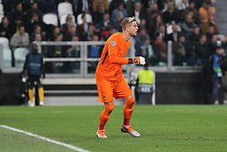 October 2, 2018 - Turin, Piedmont, Italy - Von Ballmoos (Berner Sport Club Young Boys) during the Juventus FC UEFA Champions League match between Juventus FC and Berner Sport Club Young Boys at Allianz Stadium on October 02, 2018 in Turin, Italy..Juventus won 3-0 over Young Boys. (Credit Image: © Massimiliano Ferraro/NurPhoto/ZUMA Press)