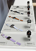 Fitbit unveils its second smartwatch, Fitbit Versa, and first-ever device for kids, Fitbit Ace, along with the Fitbit family account and female health tracking at its launch event in New York, Monday, March 12, 2018. The newest devices and features from Fitbit support the company's vision of making the world healthier, while reaching more people in unique ways to continue to help them achieve their health and fitness goals. (Photo by Diane Bondareff/AP Images for Fitbit)