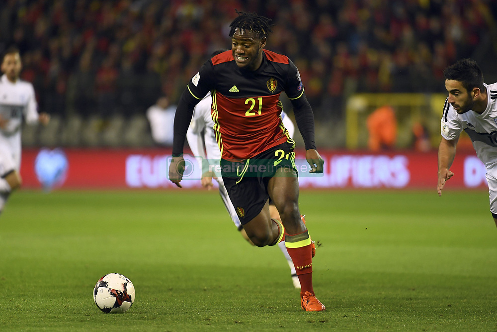 October 10, 2017 - Bruxelles, Belgique - Michy Batshuayi forward of Belgium (Credit Image: © Panoramic via ZUMA Press)