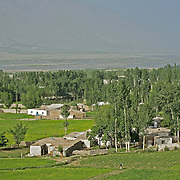 Tajik village on the banks of Pyanj (Amu Darya) river, shared with Afghanistan