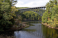 French King Bridge, Rt. 2, over the Connecticut River at French King Gorge near the confluence with the Millers River, Millers Falls, MA.
