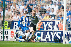 WIGAN, ENGLAND - Sunday, May 11, 2008: Wigan Athletic's goalkeeper Chris Kirkland during the final Premiership match of the season against Manchester United at the JJB Stadium. (Photo by David Rawcliffe/Propaganda)
