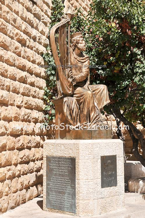 Israel, Jerusalem, Mount Zion, King David's statue by Alexander Dyomin