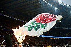 England flag - Mandatory by-line: Dougie Allward/JMP - 24/11/2018 - RUGBY - Twickenham Stadium - London, England - England v Australia - Quilter Internationals