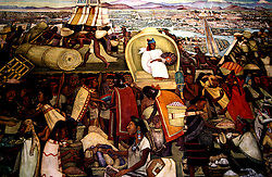 Mexico: Mexico City..Diego Rivera mural, National Palace off Zocalo..Photo copyright Lee Foster, www.fostertravel.com..Photo #: mxmexi103, 510/549-2202, lee@fostertravel.com