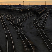 South Side freight rail yards near Halsted and 130th Tuesday, Nov. 16, 2010.<br /> <br /> (Brian Cassella/ Chicago Tribune) B58867109Z.1<br /> ....OUTSIDE TRIBUNE CO.- NO MAGS,  NO SALES, NO INTERNET, NO TV, NEW YORK TIMES OUT, CHICAGO OUT, NO DIGITAL MANIPULATION...