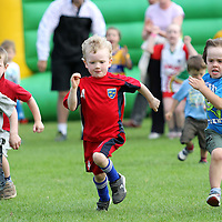 3/8/13 And there off. The under 6's start their race at the Kilmaley Family Sports Day. Pic Tony Grehan