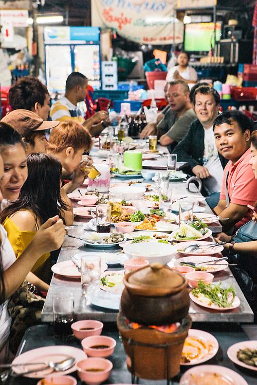 Nahm staff after work at Laab/larb restaurant, Bangkok