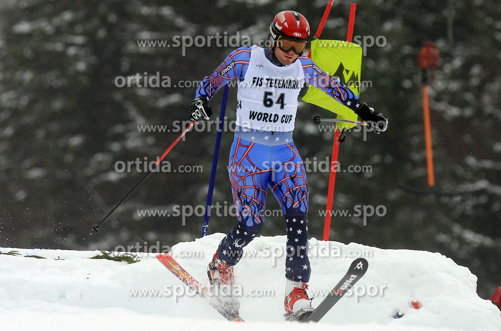 Leon Pol of Spain at FIS Telemark World Cup Kobla 2009 race,  on January 18, 2009, in Kobla, Bohinj, Slovenia.  (Photo by Vid Ponikvar / Sportida)