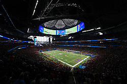 A general view of the game between the LSU Tigers and the Oklahoma Sooners n the 2019 College Football Playoff Semifinal at the Chick-fil-A Peach Bowl on Saturday, Dec. 28, in Atlanta. (Daniel Shirey via Abell Images for the Chick-fil-A Peach Bowl)
