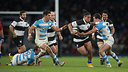 Twickenham, United Kingdom, Joe TOMANE, running with the ball during the Killik Cup Match, Barbarians vs Argentina, RFU Stadium, Twickenham, England,<br /> <br /> Saturday    21/11/2015  <br /> <br /> [Mandatory Credit; Peter Spurrier/Intersport-images]