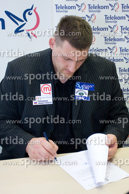 Miroslav Vodovnik when Slovenian athletes and their coaches sign contracts with Athletic federation of Slovenia for year 2009,  in AZS, Ljubljana, Slovenia, on March 2, 2009. (Photo by Vid Ponikvar / Sportida)