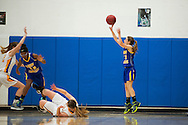 Lamoille's Isabelle Sullivan (11) takes a jump shot during the girls basketball game between Lamoille and Milton at Milton High School on Friday night December 18, 2015 in Milton, (BRIAN JENKINS/for the FREE PRESS)