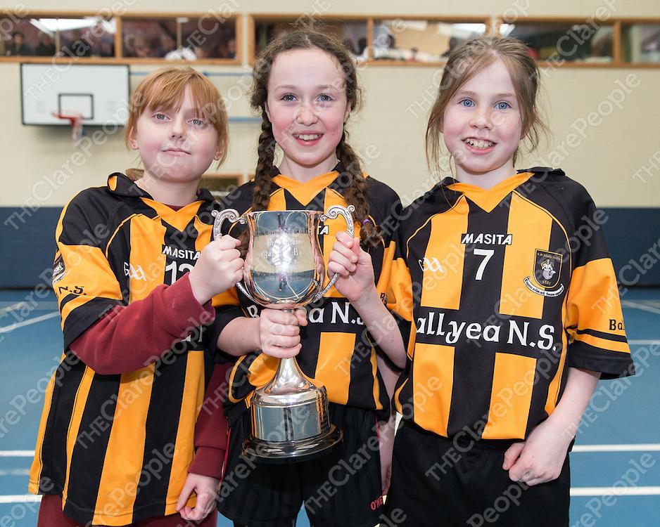 Clodagh Coffee, Hannah Mai Neylon and Aishling Costelloe from Ballyea National School