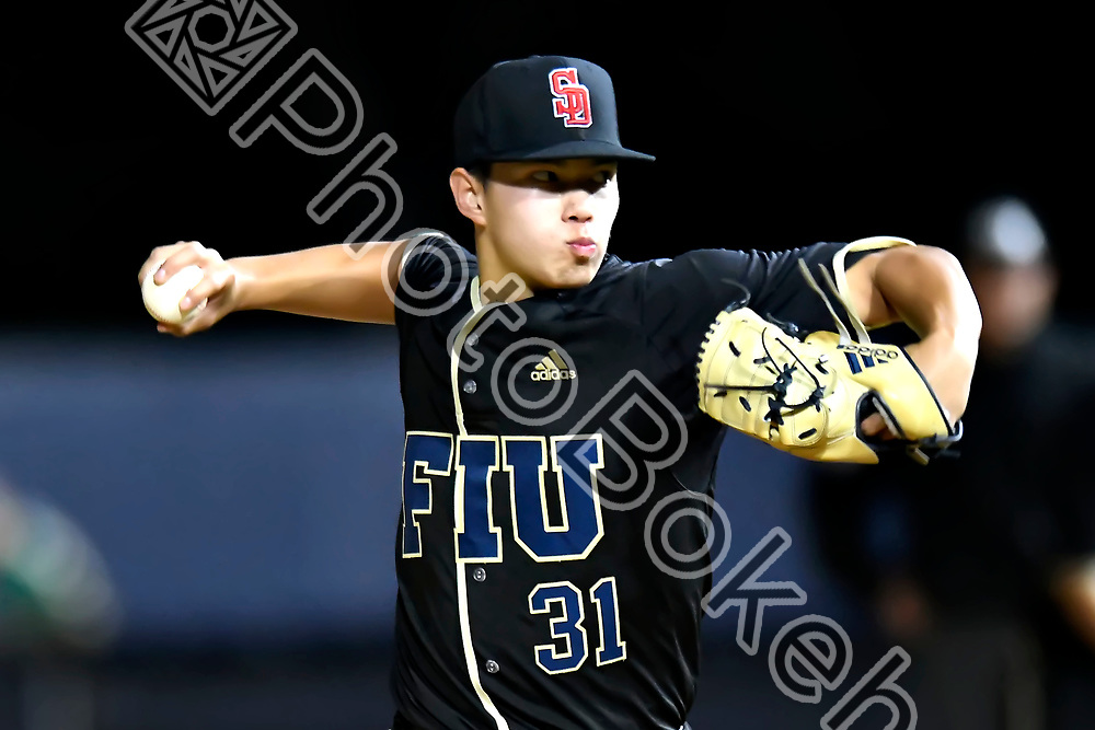 2018 March 07 - FIU's Steven Casey (31).<br /> Florida International University defeated the University of Miami, 5-3, at FIU Baseball Stadium, Miami, Florida. (Photo by: Alex J. Hernandez / photobokeh.com) This image is copyright by PhotoBokeh.com and may not be reproduced or retransmitted without express written consent of PhotoBokeh.com. &copy;2018 PhotoBokeh.com - All Rights Reserved