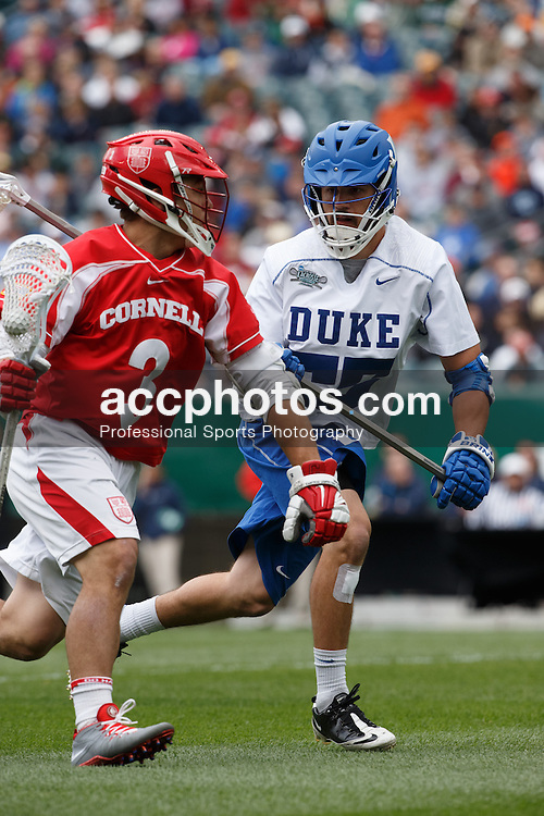 2013 May 25: Bill Conners #55 of the Duke Blue Devils during a 16-14 victory over the Cornell Big Red in the NCAA semifinals at Lincoln Financial Field in Philadelphia, PA.