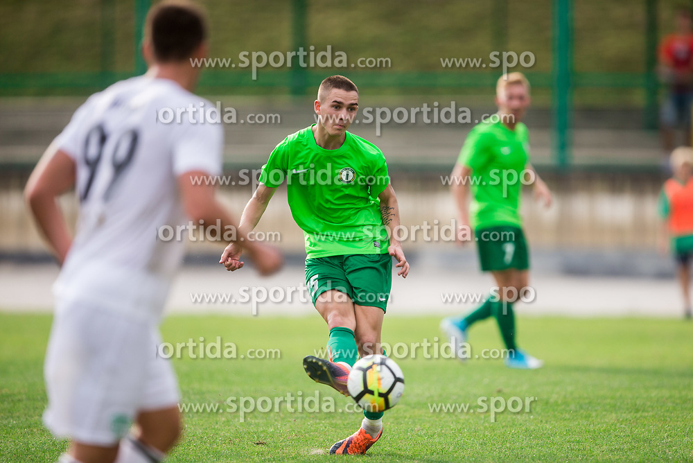 Gasper Hrovat of ND Ilirija during football match between ND Ilirija 1911 and NK Krsko in 1st Round of Slovenian Football Cup 2017/18, on August 16, 2017 in Stadium Ilirija, Ljubljana, Slovenia. Photo by Vid Ponikvar / Sportida