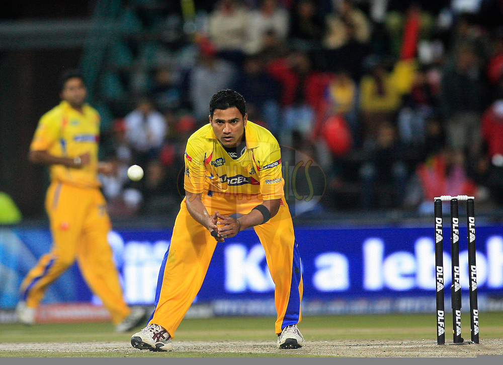 JOHANNESBURG, SOUTH AFRICA - 23 May 2009. Shadab Jakati in action during the  IPL Season 2 second Semi Final match between the Chennai Superkings and the Royal Challengers Bangalore held at The Wanderers Stadium in Johannesburg, South Africa..
