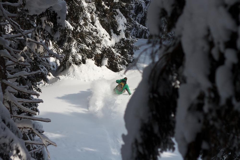 Forest Skiing, Davos Switzerland