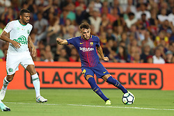 August 7, 2017 - Barcelona, Spain - Munir El Haddadi of FC Barcelona during the 2017 Joan Gamper Trophy football match between FC Barcelona and Chapecoense on August 7, 2017 at Camp Nou stadium in Barcelona, Spain. (Credit Image: © Manuel Blondeau via ZUMA Wire)
