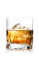 Glass of whisky - studio shot