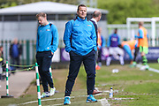 Forest Green Rovers manager, Mark Cooper watches on during the Vanarama National League match between Forest Green Rovers and Chester FC at the New Lawn, Forest Green, United Kingdom on 14 April 2017. Photo by Shane Healey.