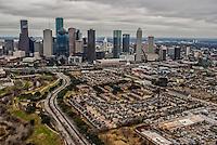Houston Skyline & Allen Parkway