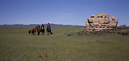 Mongolia. ruins of the Har Balgas old OUIGOUR capital. in the valley of karakorum / ruines de l'ancienne capitale ouigour de har balgas dans la vallee de karakorum /  (QARAQORIN  / /28    L920728a  /  P0002633