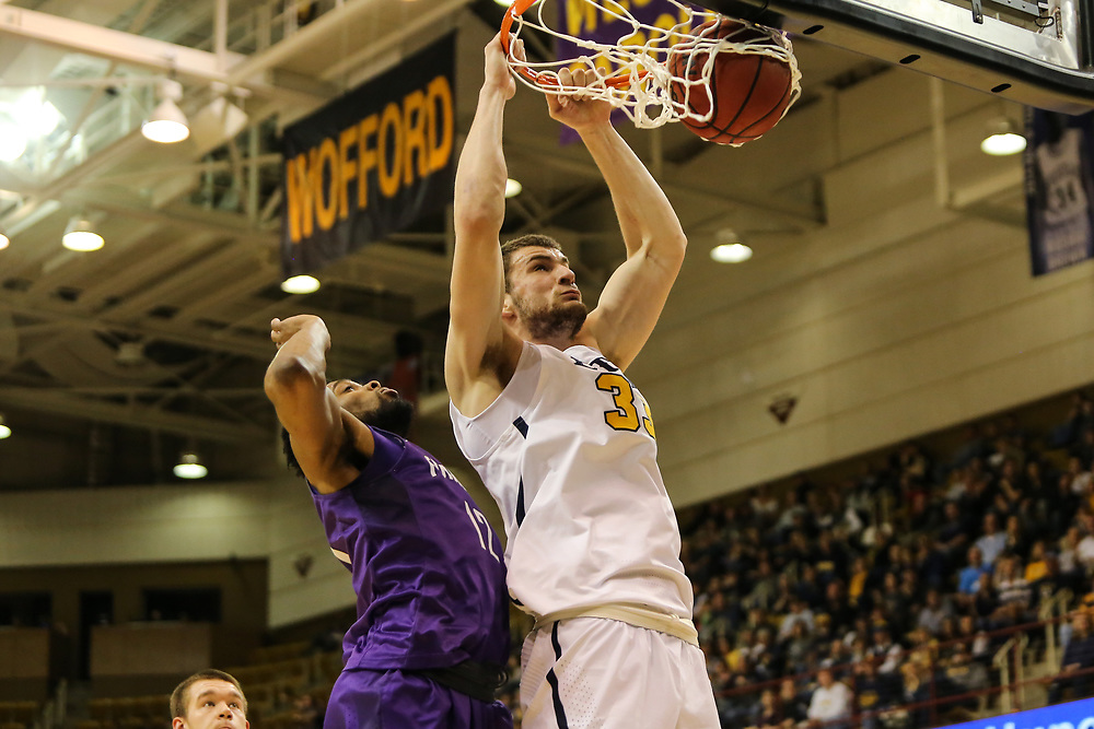 March 4, 2018 - Asheville, North Carolina - U.S. Cellular Center: ETSU forward Mladen Armus (33)<br /> <br /> Image Credit: Dakota Hamilton/ETSU