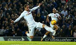 Pierre-Michel Lasogga of Leeds United shoots at goal - Mandatory by-line: Robbie Stephenson/JMP - 31/10/2017 - FOOTBALL - Elland Road - Leeds, England - Leeds United v Derby County - Sky Bet Championship