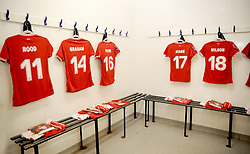 Bristol City Women changing room- Mandatory by-line: Nizaam Jones/JMP - 06/01/2019 - FOOTBALL - Stoke Gifford Stadium- Bristol, England - Bristol City Women v Manchester City Women - FA Women's Super League 1