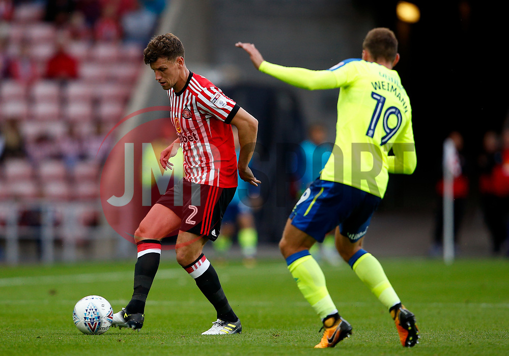 Billy Jones of Sunderland and Andreas Weimann of Derby County - Mandatory by-line: Matt McNulty/JMP - 04/08/2017 - FOOTBALL - Stadium of Light - Sunderland, England - Sunderland v Derby County - Sky Bet Championship