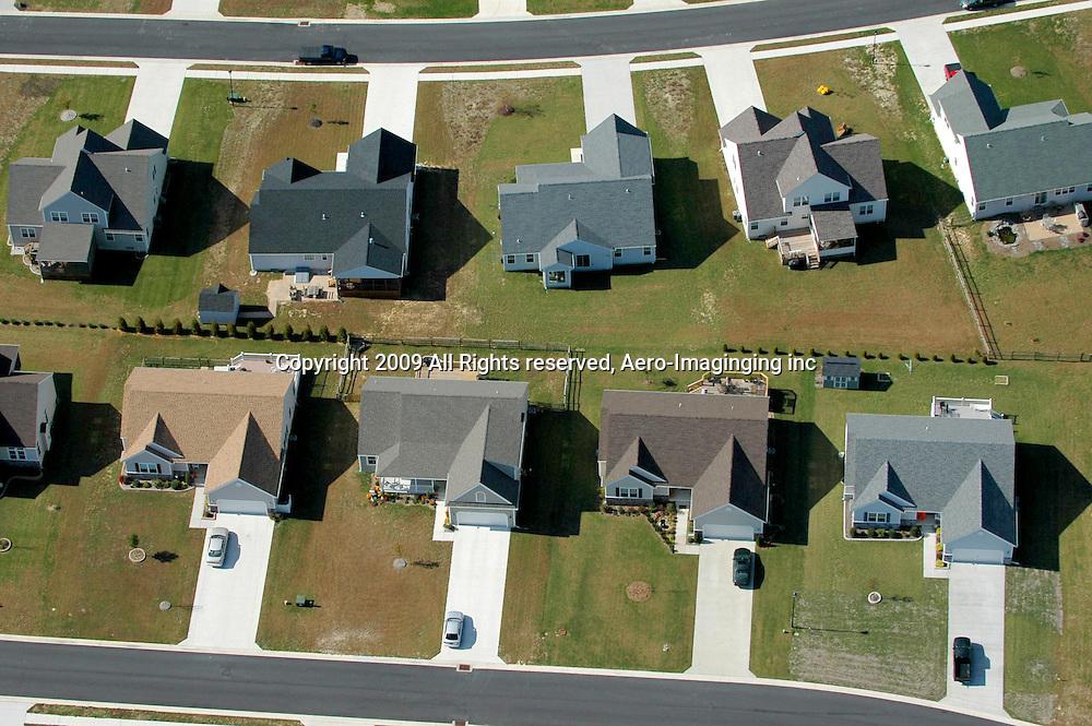 Aerial views of homes in Delaware neighborhood