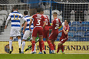 Own Goal - Jonathan Howson (16) of Middlesbrough scores an own goal to give QPR a 2-1 lead during the EFL Sky Bet Championship match between Queens Park Rangers and Middlesbrough at the Kiyan Prince Foundation Stadium, London, England on 9 November 2019.